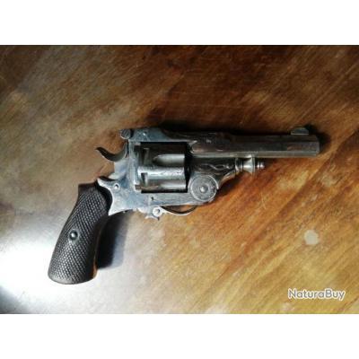 magnifique petit revolver à brisure  calibre 320 percussion centrale poudre noire