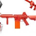 Pack Carabine Type Nerf Rekt OPFour rouge 12 coups + 12 fléchettes mousse