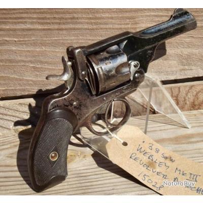 .38 Webley Mk III Revolver du poche 6 Coups Canon 3 pouces pas Colt Smith Wesson