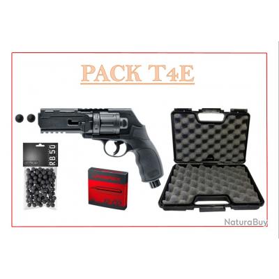 Pistolet de défense Umarex T4E HDR50 Cal.50 - 11 Joules (100 BILLES + 5 CART CO2 + MALLETTE)