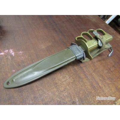 """nettoyeur tranchée coup poing """" au lion"""" US army 1918 première seconde guerre couteau dague poignard"""