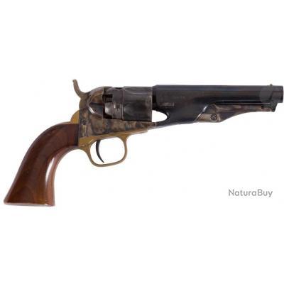 "Revolver type Colt 1862 Police - Cal. 36 - 4-1/2"" - Westerner's Arms Uberti - Bronzage bleui / jaspé"