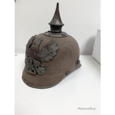Pickelhaube, casque à pointe WW1 allemand